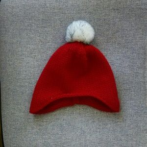 802d04651e767 Other - Red Winter Hat with White Pom Pom